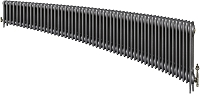 Eastgate Victoriana 3 Column 55 Section Cast Iron Radiator 450mm High x 3345mm Wide - Metallic Finish